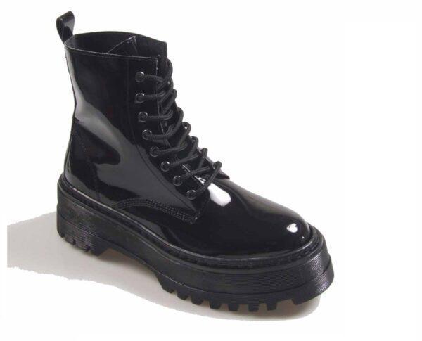 Bota militar para chica con plataforma