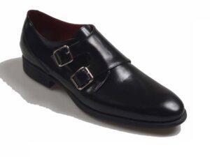 zapato blucher hebilla oxford 8007 piel negro