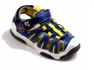 Sandalia dedos cerrados para niño en color azul
